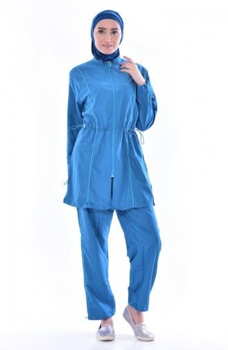 Hijab Badeanzug 2011-01 Petroleum 2011-01