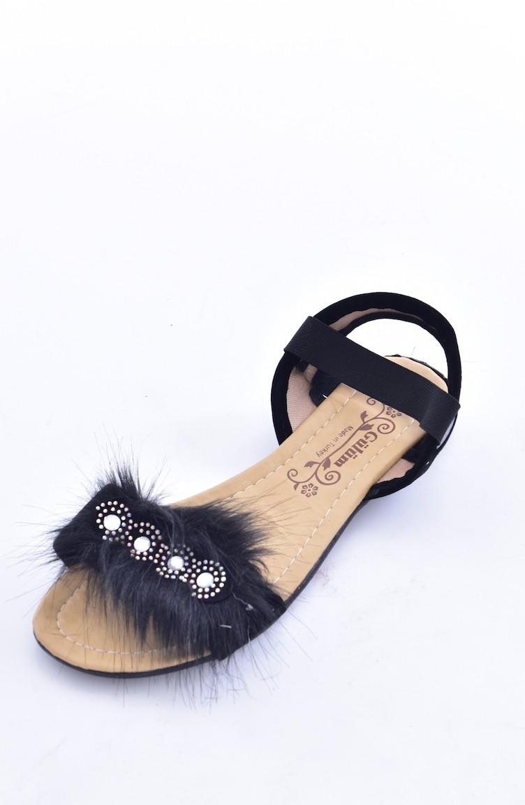 Sandales Noir 02 Pour 50259 Femme Plume TwXZikOPu