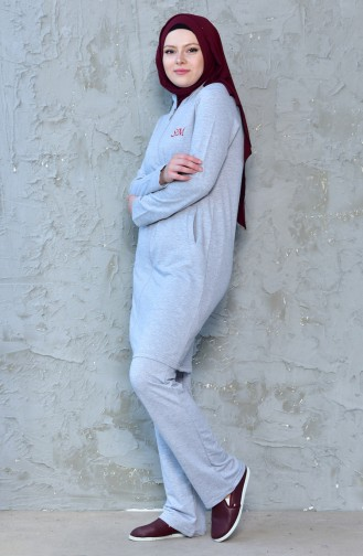 Tracksuit Suit 0387-03 Gray 0387-03