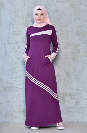 Sport Kleid mit Tasche 8167-02 Zwetschge 8167-02