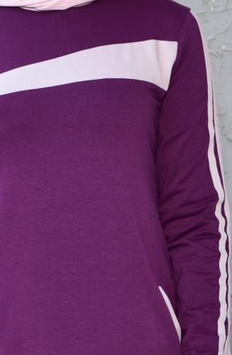 Robe Sport avec Poches 8167-02 Plum 8167-02