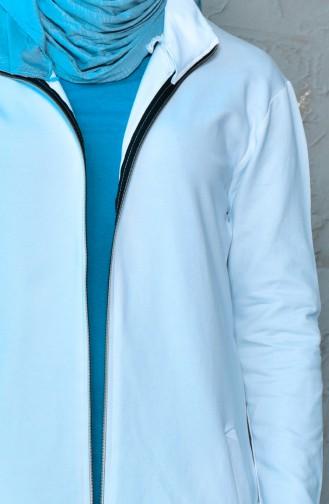 كاب رياضي بتصميم سحاب 18080-06 لون أبيض 18080-06