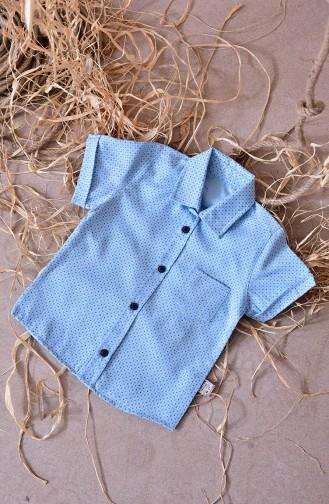 Kids Shirt 1814-03 Blue 1814-03