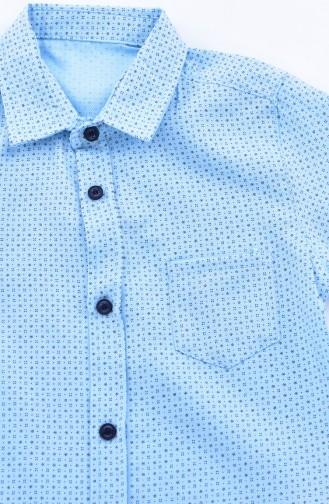 Kids Shirt 1815-02 Blue 1815-02