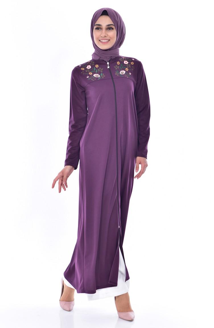 Purple Abaya 2018 05