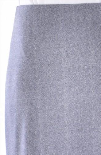 Gemusterter Rock 30992-01 Grau 30992-01