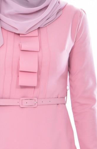 Kleid mit Gürtel 1084-09 Rosa 1084-09