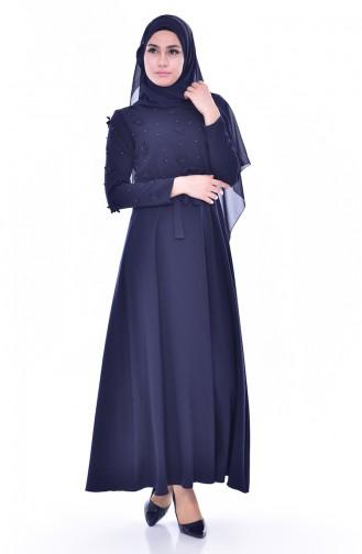 Robe a Ceinture 1085-08 Bleu Marine 1085-08