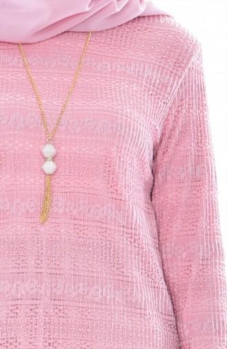 Bluse mit Halskette 51284-05 Puder 51284-05