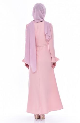 Kleid mit Gürtel 1084-06 Puder 1084-06