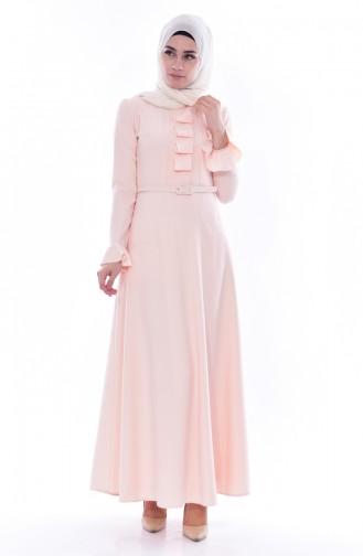 Kemerli Elbise 1084-05 Somon