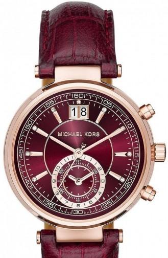 Claret red Horloge 2426