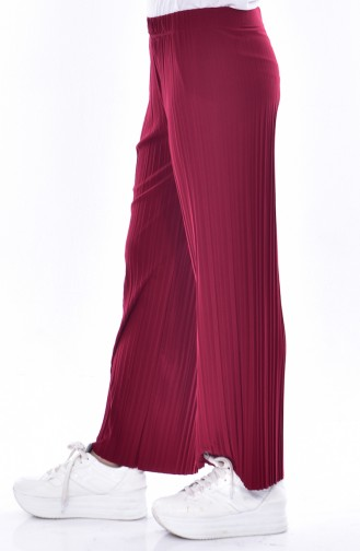 Pleated Pants 26481-09 Claret Red 26481-09