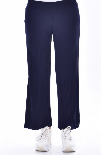 Pantalon Plissé 26481-11 Bleu Marine 26481-11