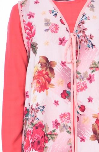 Gömlek Yelek İkili Takım 9067-02 Mercan Pudra