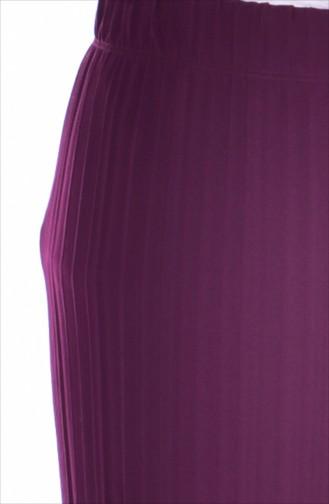 بنطال بتصميم كسرات 26481-10 لون أرجواني 26481-10