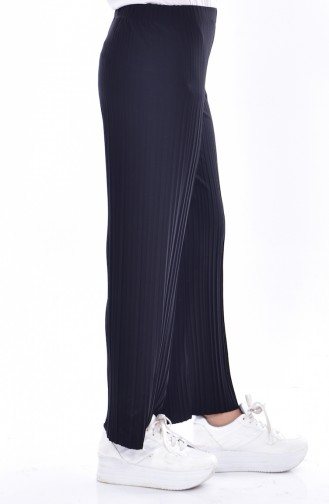 Pantalon Plissé 26481-02 Noir 26481-02