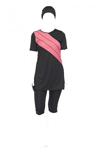Pink Swimsuit Hijab 0561-02