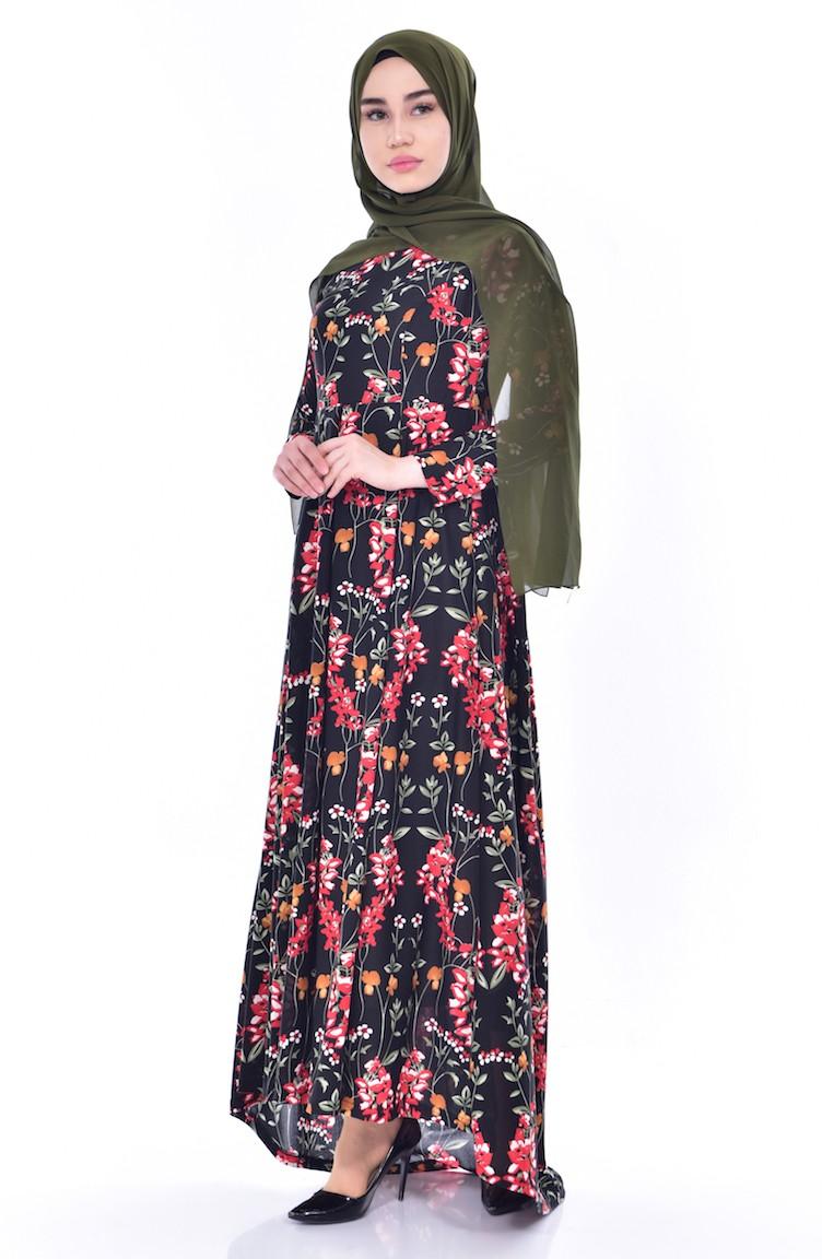 04 Kleid Schleppe 6056 Schwarz 6056 mit 04 wN8n0Ovm
