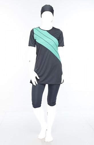 Turquoise Swimsuit Hijab 0561-05