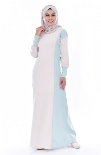 TUBANUR Garnili Dress 2941-10 Light Beige Green 2941-10