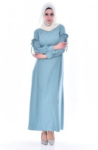 فستان بتفاصيل من اللؤلؤ  0545-04