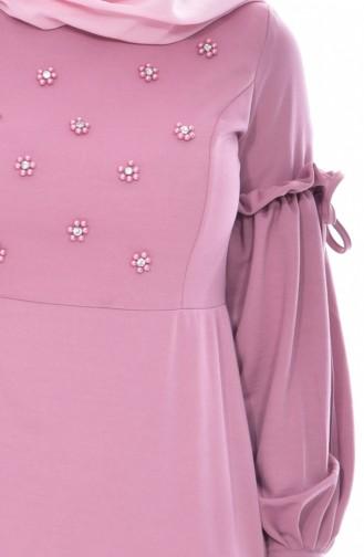 فستان بتفاصيل من اللؤلؤ  0545-06