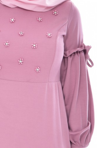 Robe Perlées 0545-06 Rose Pâle 0545-06