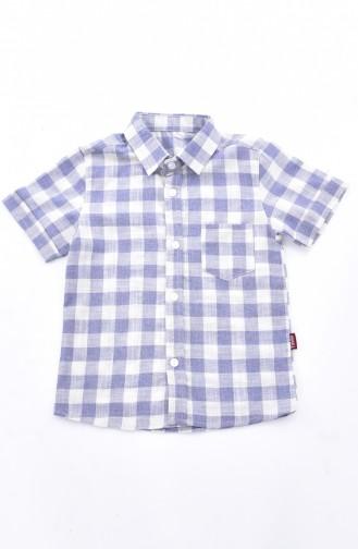 Kids Shirt 1813-01 Navy Blue 1813-01