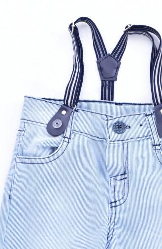 Kids Jeans Capri Pants 1807-01 Blue 1807-01