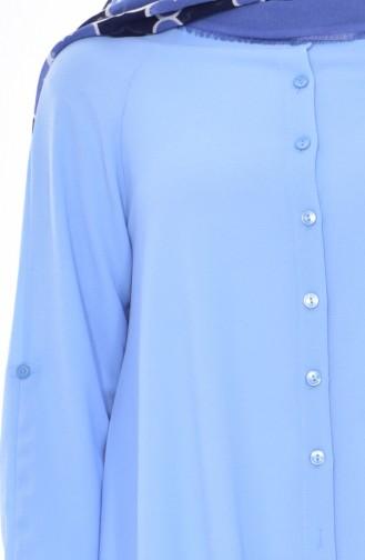 Düğmeli Tunik 3188-06 Mavi 3188-06