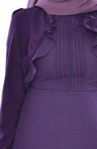 Purple İslamitische Jurk 0532-01