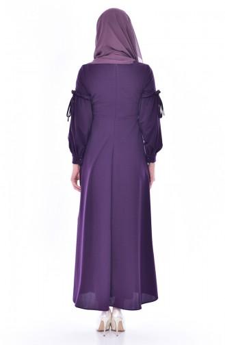 Kleid mit Perlen 0545-02 Lila 0545-02