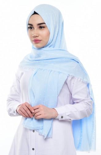 Karaca Schal mit Fransen 90484-16 Baby Blau 16