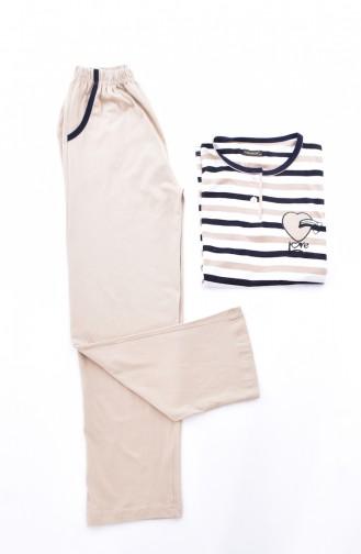 Women´s Pajamas Suit 0500-01 Beige 0500-01