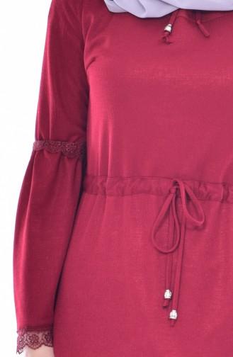 Robe Taille élastique 1184-01 Bordeaux 1184-01