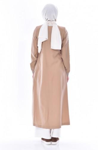 Taş Baskılı Ferace 35821-05 Camel 35821-05