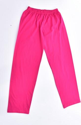 Baskılı Pijama Takım 1030-03 Fuşya