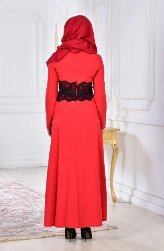 فستان بتفاصيل من الدانتيل 2314-02