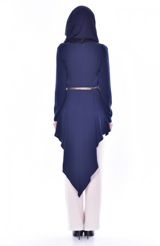 Belted Tunic Trousers Double Suit 0015-02 Navy Blue 0015-02