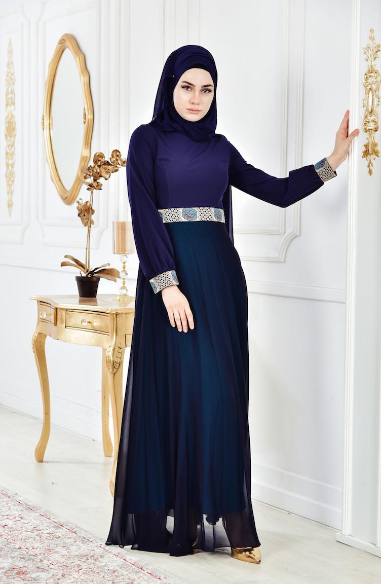 aa60dd93a فستان بتصميم سادة 2649-02
