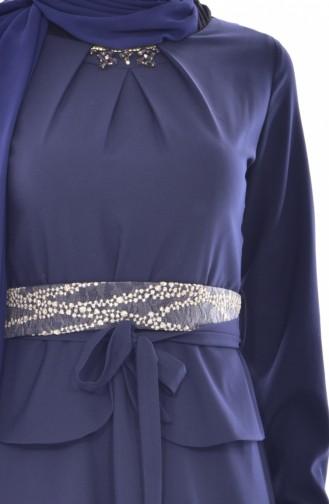 فستان بتصميم حزام للخصر  2236-01