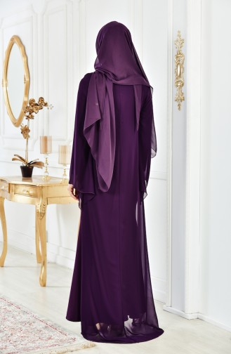 Besticktes Abendkleid 4006-05 Lila 4006-05