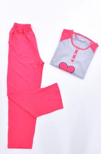 Kadın Pijama Takım 2010K-06 Nar Çiçeği 2010K-06