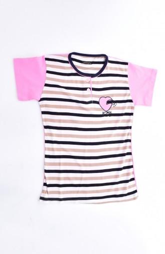 Ensemble Pyjama Pour Femme 0500-05 Rose 0500-05