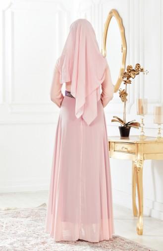 Abendkleid aus Chiffon 2649-03 Puder 2649-03