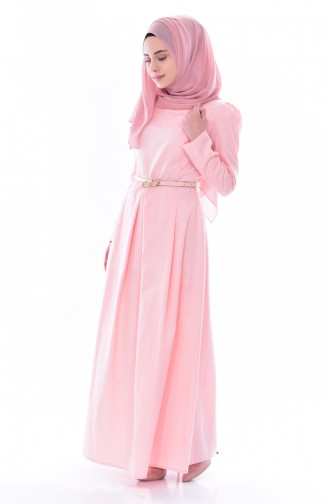 TUBANUR Belted Dress 3020-13 Powder 3020-13