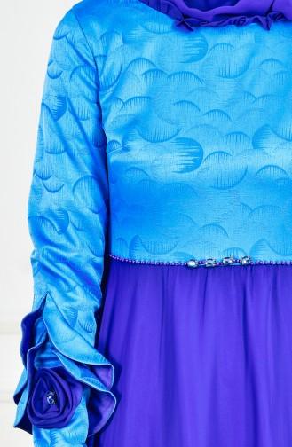 Abendkleid aus Chiffon 2313-04 Saks 2313-04