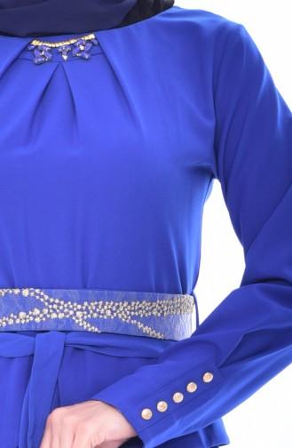 Saxon blue İslamitische Jurk 2236-05