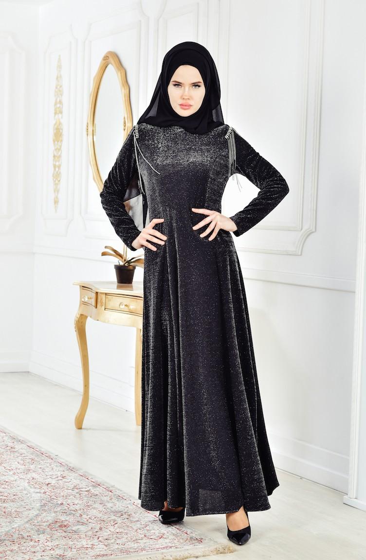 01ee324aa3cffe Black İslamitische Jurk 0553-02 ...